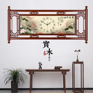 中国风?#30340;?#25346;钟大气客厅装饰钟表中式古典石英时钟长方形家用挂表