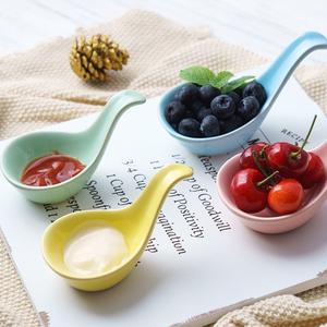 魚子醬勺子家用北歐陶瓷日本商用日式醬油醬料調料調味碟子蘸醬碗