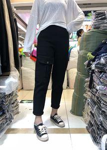 2019新款胖妹妹宽松大码网红高腰直筒显瘦小腿工装裤休闲裤女
