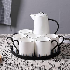 杯子套装家用客厅水杯套装凉水壶耐高温茶杯具套装家用陶瓷杯水具