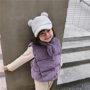 儿童棉马甲2018秋冬季新款宝宝灯芯绒马夹?#34892;?#31461;女童洋气条绒外套