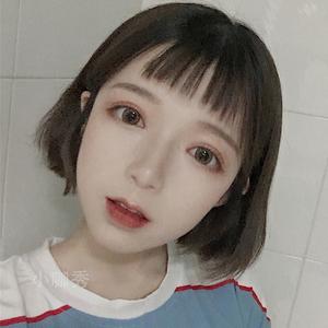 日系假发女短发bobo头空气刘海圆脸齐耳气质网红发套女仿真短直发