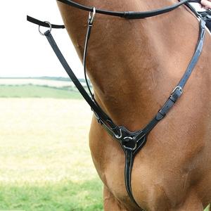 英國Shires胸帶低頭革馬匹調教牛皮低頭革洛奇馬具(8214016)