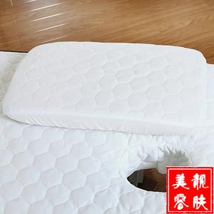 美容院枕套按摩理疗床专用长方型半圆型圆柱型枕套枕头枕芯套包邮