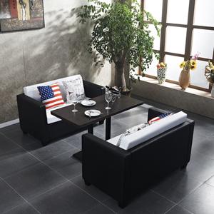 西餐厅沙发组合咖啡馆卡座沙发咖啡厅甜品店奶茶店洽谈沙发桌椅