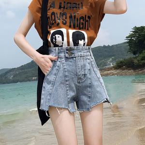 牛仔短裤女高腰显瘦泫雅同款2020新款夏季外穿宽松a字阔腿热裤潮