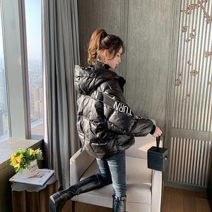 羽絨棉服外套女冬季2019年新款韓版寬松亮面棉襖加厚短款面包棉衣