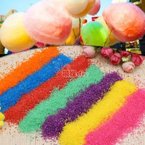 棉花糖機專用彩糖果味棉花糖機爆米花機彩糖彩色白砂糖棉花糖原料