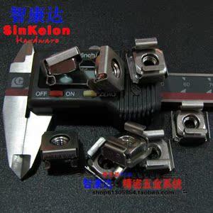 全304不锈钢卡式螺母机柜螺母浮动螺母卡簧螺母笼式螺母M5M6M8