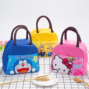 飯盒袋防水手提袋子卡通可愛兒童帆布手拎袋學生帶飯便當袋手提包