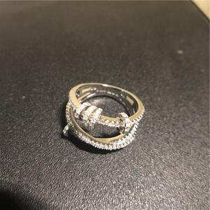 独家渠道~原厂HK apm时来运转圈圈戒指女纯银镶晶钻指环明星同款