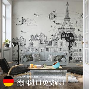 城市风景画壁纸