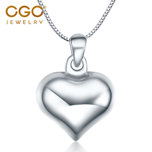 CGC中銀金行珠寶首飾心形鉑金pt950白金吊墜項鏈頸墜時尚送女友
