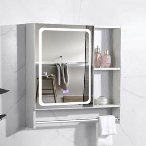 智能鏡柜太空鋁浴室鏡箱帶燈 掛墻式梳妝洗手間帶置物架廁所壁掛