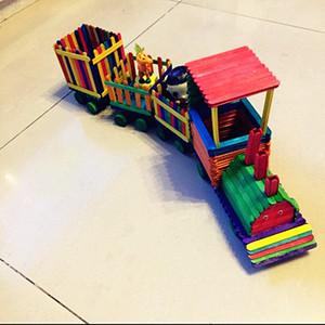 秒杀雪糕棒冰棒棍模型木片 木条 diy手工拼装木棒 火车小制作材料图片