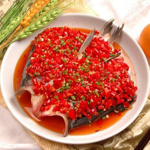 剁椒魚頭盤12英寸深盤子家用大號菜盤10酒店蒸魚盤陶瓷專用魚頭盤