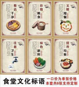 文明标语 食堂餐厅装饰画光盘行动宣传画酒店宾馆自助图片