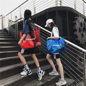 夏天透明大容量包包女2019新款潮pvc单肩斜挎手提袋ins沙滩果冻包