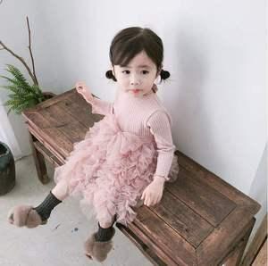 女宝一周岁春秋裙蓬蓬纱生日装百日2岁公主洋气裙子春装宴薄款
