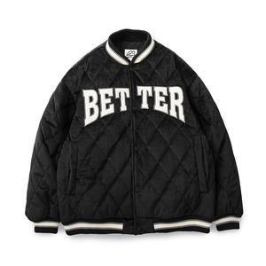 TOCHO美式學院風加厚棒球棉服男女款bf貼布繡菱形格潮牌寬松外套