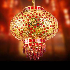 灯笼?#33322;?#22823;门口 旋转中国风会的红家用阳台自动过年装饰物小猪孩