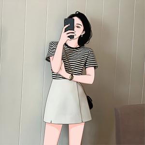 夏季2020年新款赫本風輕熟風套裝女小香風兩件套洋氣網紅氣質短褲