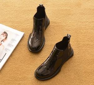 2019新款春秋平跟短靴單靴平底馬丁靴短筒雪地靴厚底鞋踝靴女靴子