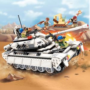 启蒙积木legao玩具 男孩子拼装系列模型雷霆使命坦克兵团出击3206