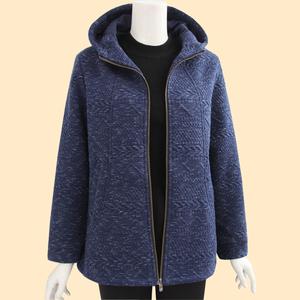 中老年人秋冬外套新款媽媽裝休閑上衣厚款夾克衫50-60歲女裝外套