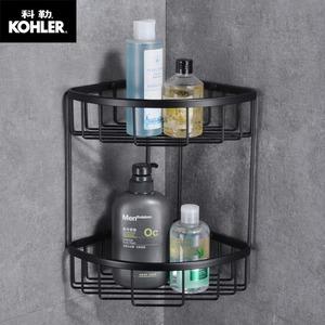 科勒不銹鋼三角網籃大號浴室衛生間置物架沐浴露架子收納轉角架
