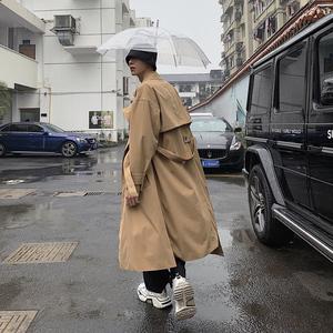 風衣男韓版潮流中長款帥氣過膝外套英倫風秋冬季ins情侶呢子大衣