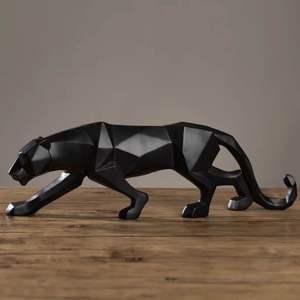 北欧简约几何折纸动物豹子摆件现代电视柜摆设创意欧式装饰艺术品