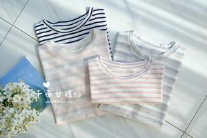 【繁盛的香樟】經典系列~天絲亞麻 透氣舒適 好穿條紋T恤 條紋衫