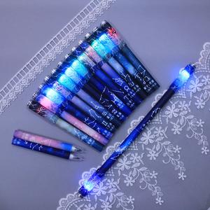 磁力十二星座發光轉轉筆可折疊指尖減壓玩具罰抄筆情侶中性筆包郵