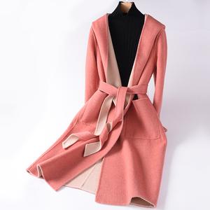 反季节清仓双面羊绒大衣女中长款2018新款高?#25628;?#27611;呢子外套双面呢