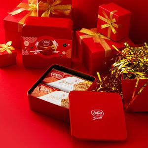 进口零食Lotus和情缤咖时焦糖饼干礼盒休闲零食咖啡伴侣