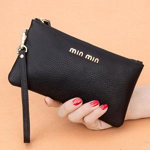 真皮手拿包女錢包長款2020新款簡約時尚手包零錢包皮夾小包手抓包