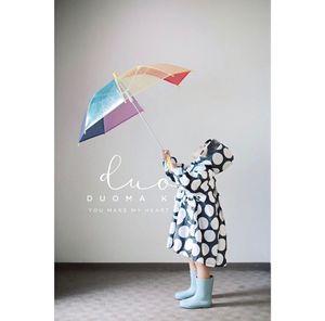 預-定 日 本土 雨天的樂趣 有顏色的雨 小朋友透明彩虹傘