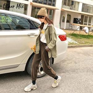 七格格秋季針織哈倫褲女2019新款冬束腳運動褲高腰寬松顯瘦褲子潮