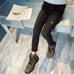 女童牛仔裤春秋2019新款韩版儿童弹力修身小脚裤女孩洋气外穿潮
