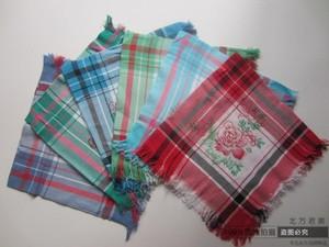 优质中年妇女农村下地干活方巾表演棉布头巾四方妈妈纯棉围巾包邮