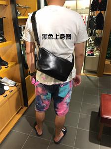 日本代购 green label relaxing 男式日系时尚牛皮斜挎小包 男包