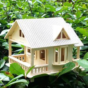 小木屋模型木质创意手工小屋diy大别墅组装房子木头立体拼图成人