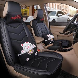 北汽威旺m50f座套306配件北气m20七座汽车坐垫四季通用全包全皮