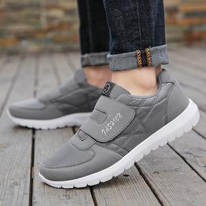 春天老北京布鞋男透气休闲帆布鞋爸爸妈妈软底父母同款老人健步鞋