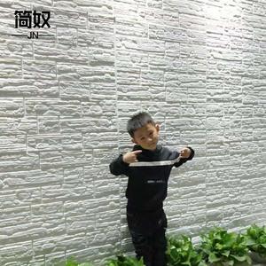 自粘3d立体墙贴砖文化石防水泡沫贴纸背景墙复古装饰防潮防霉壁纸
