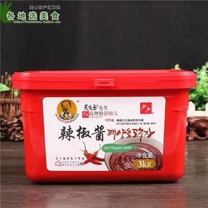 戶戶辣椒醬3kg 吳文善韓國石鍋拌飯炒年糕甜辣醬韓式部隊火鍋底料