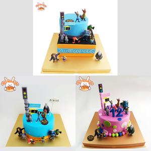艾利兔【展示链接】疯狂动物城 生日蛋糕私人定制请联系客服 北京
