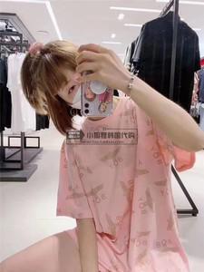 小狐貍海外代購韓國寶愛DX專柜20年春夏款圓領滿標短袖T恤打底衫