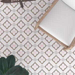 全瓷200粉色北欧日式小花砖粉红色瓷质耐磨阳台厨房地砖地面砖